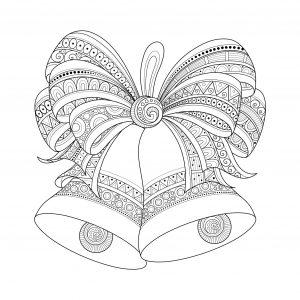 Coloriage cloches de noel zentangle style par irinarivoruchko
