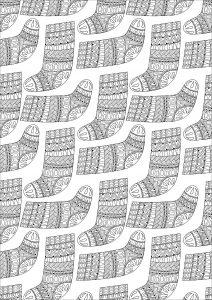 Chaussettes de Noël aux motifs complexes