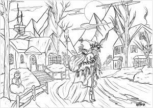 Village de Noël et Père Noël