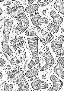 Jolies chaussettes de Noël