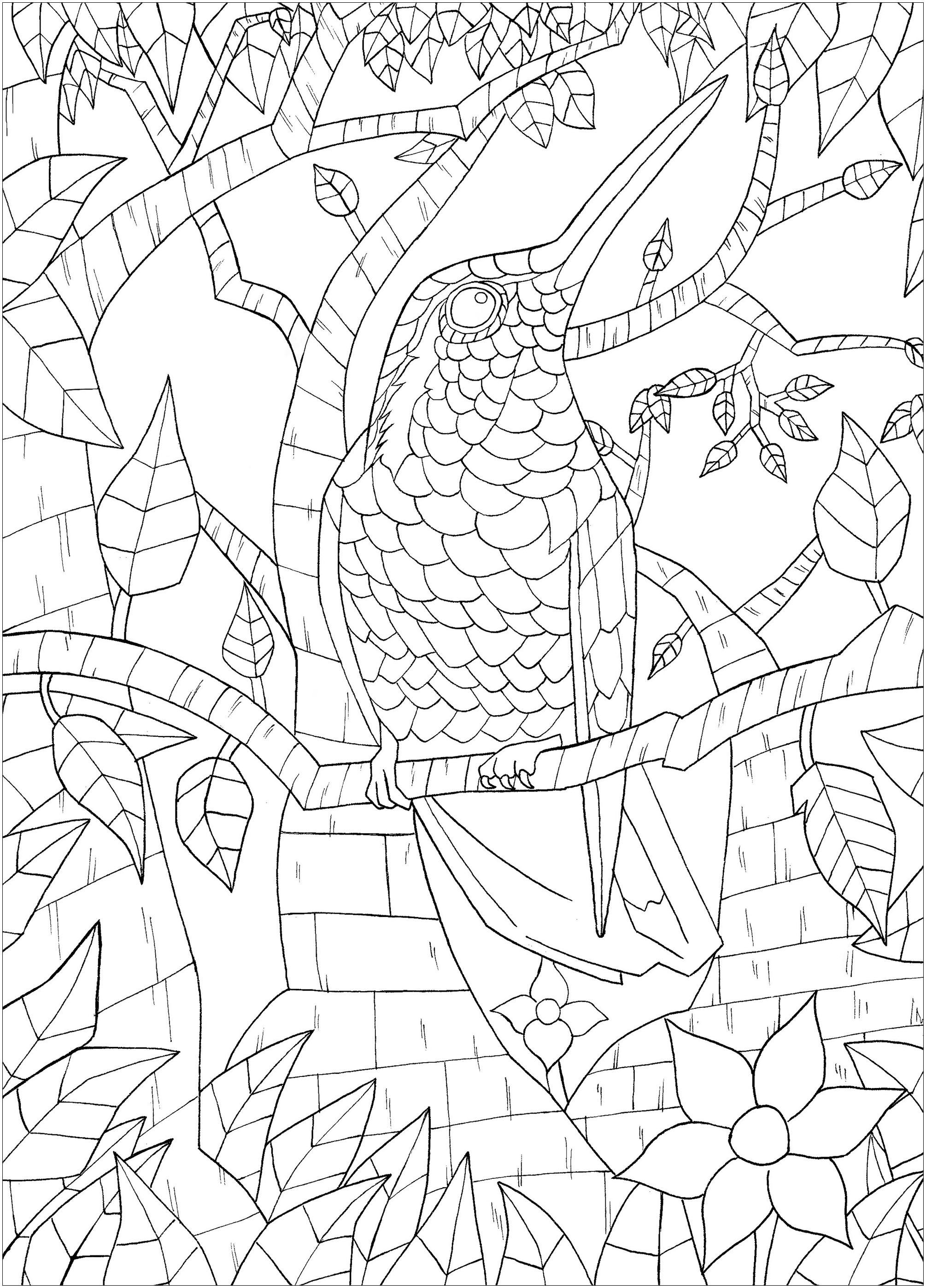 Oiseau sur branche