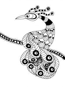 Coloriage oiseau extraordinaire