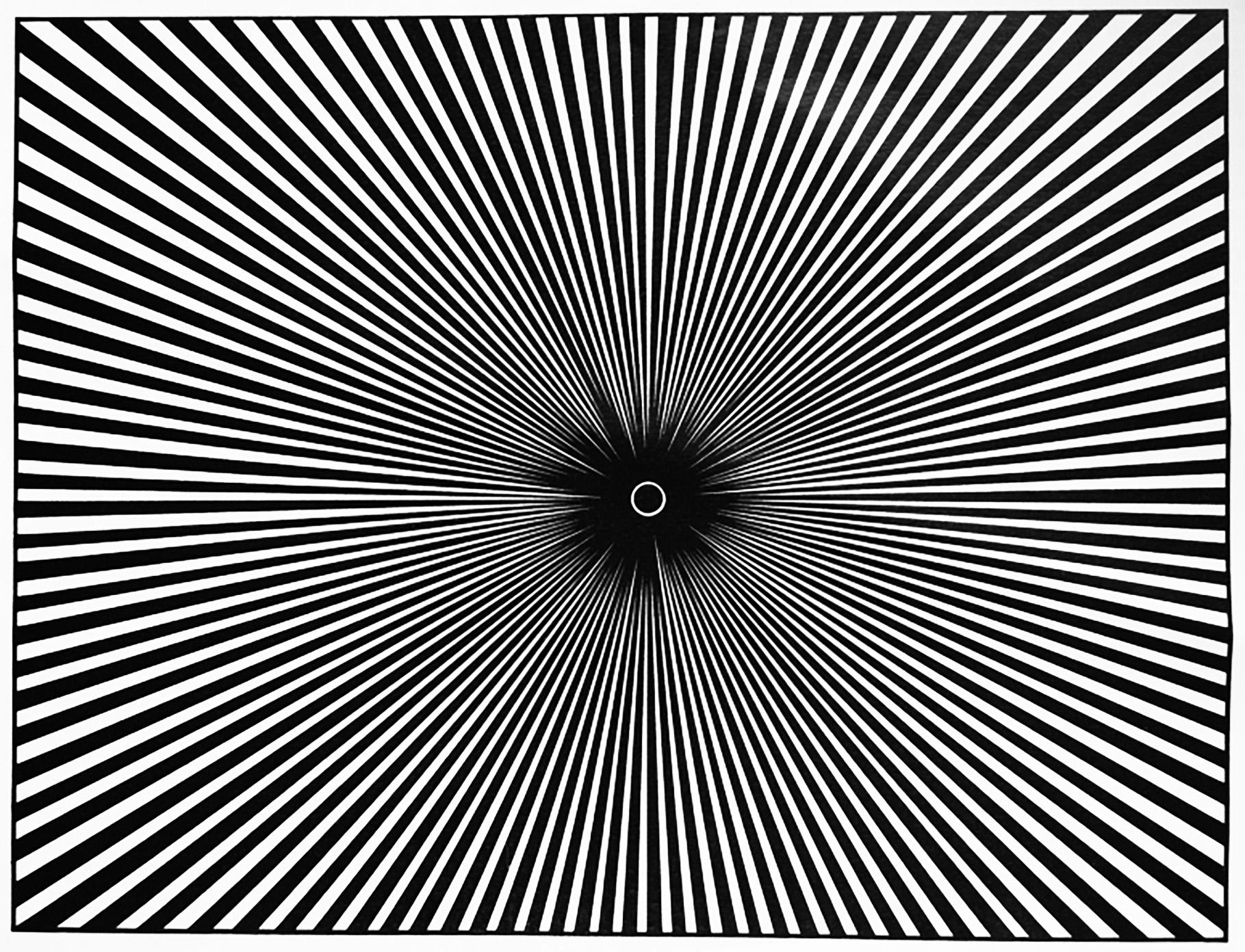 Un coloriage très hypnotique