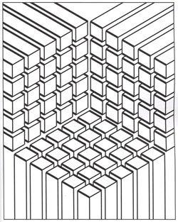 Illusion optique carres