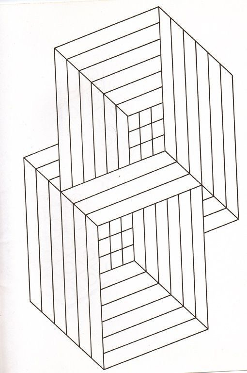 Illusion optique cubes