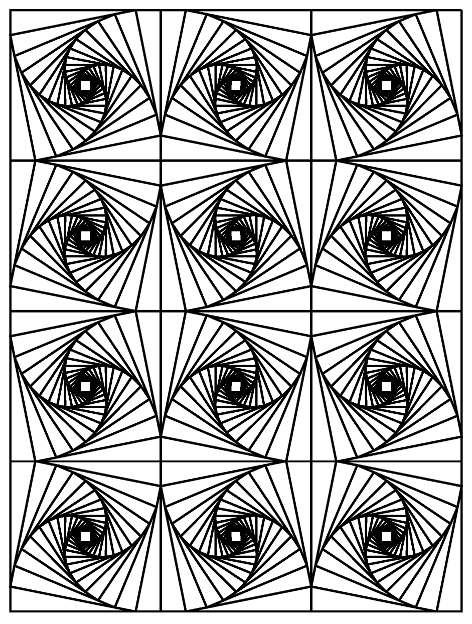 Op art illusion optique 3 art optique coloriages - Coloriage art ...