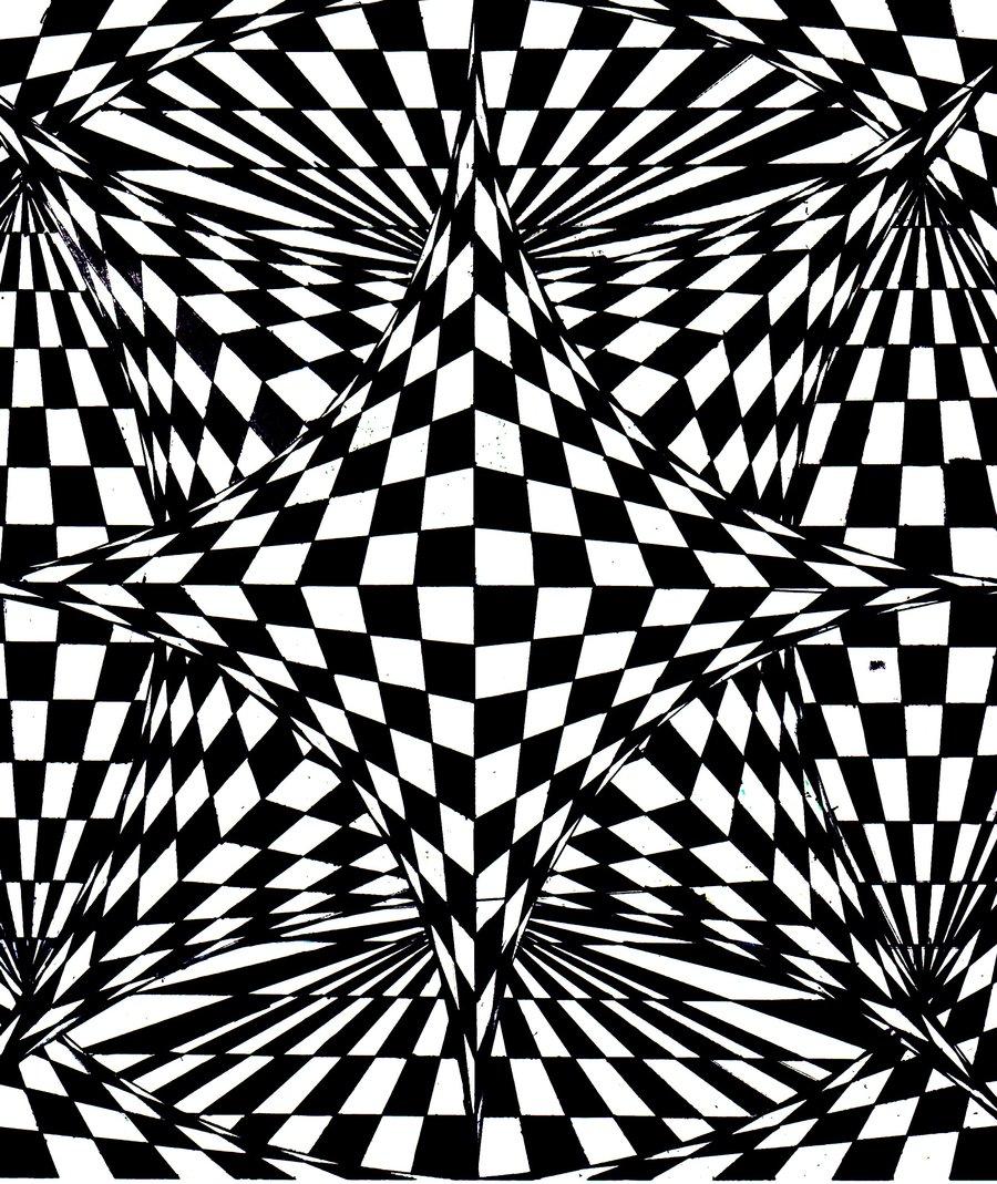 Coloriage adulte illusion d 39 optique - Coloriage illusion d optique ...
