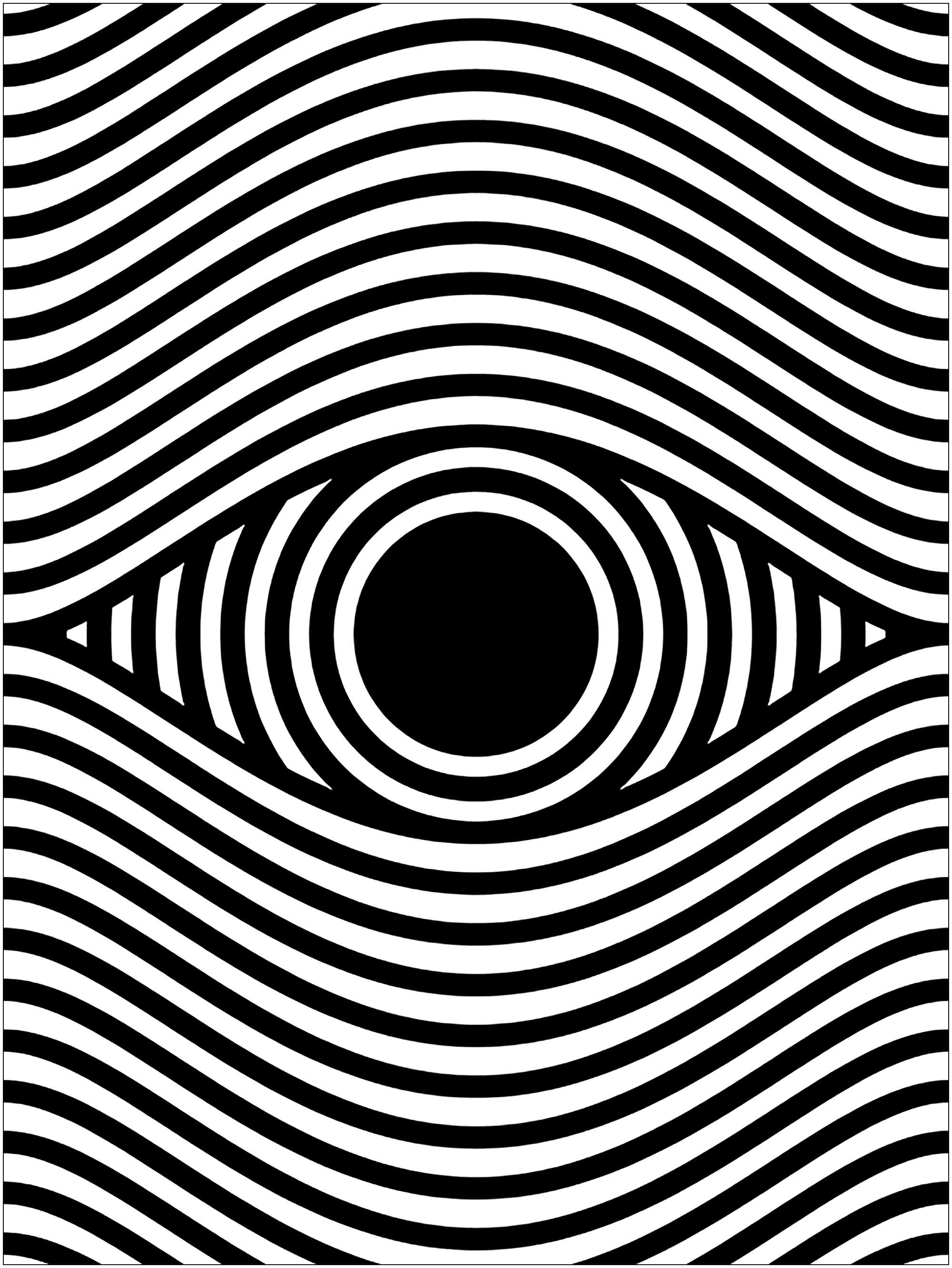 Oeil et illusion d'optique - format portrait (inspiré d'une oeuvre de Sergi Delgado)