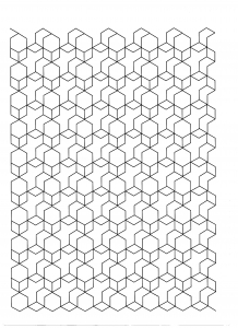 coloriage-cubes free to print