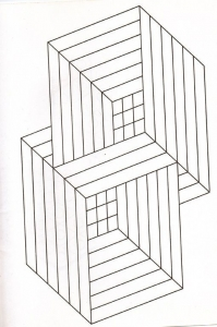 Coloriage illusion optique cubes