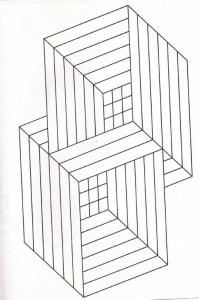 coloriage illusion optique cubes