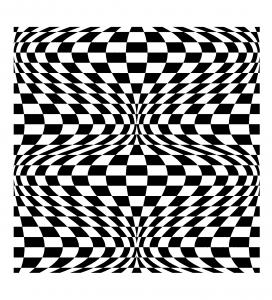 Coloriage op art illusion optique 2