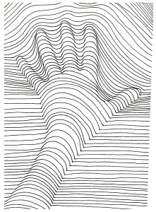 coloriage-op-art-illusion-optique-main free to print