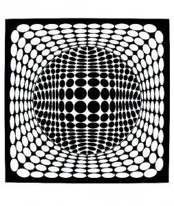 Coloriage op art illusion optique rond
