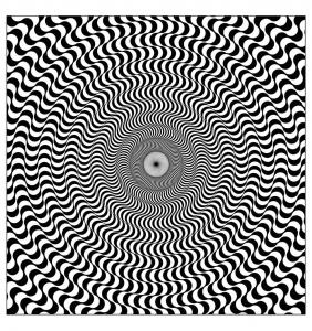 Coloriage op art illusion optique