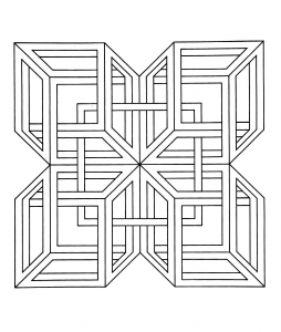 coloriage anti stress illusion d'optique
