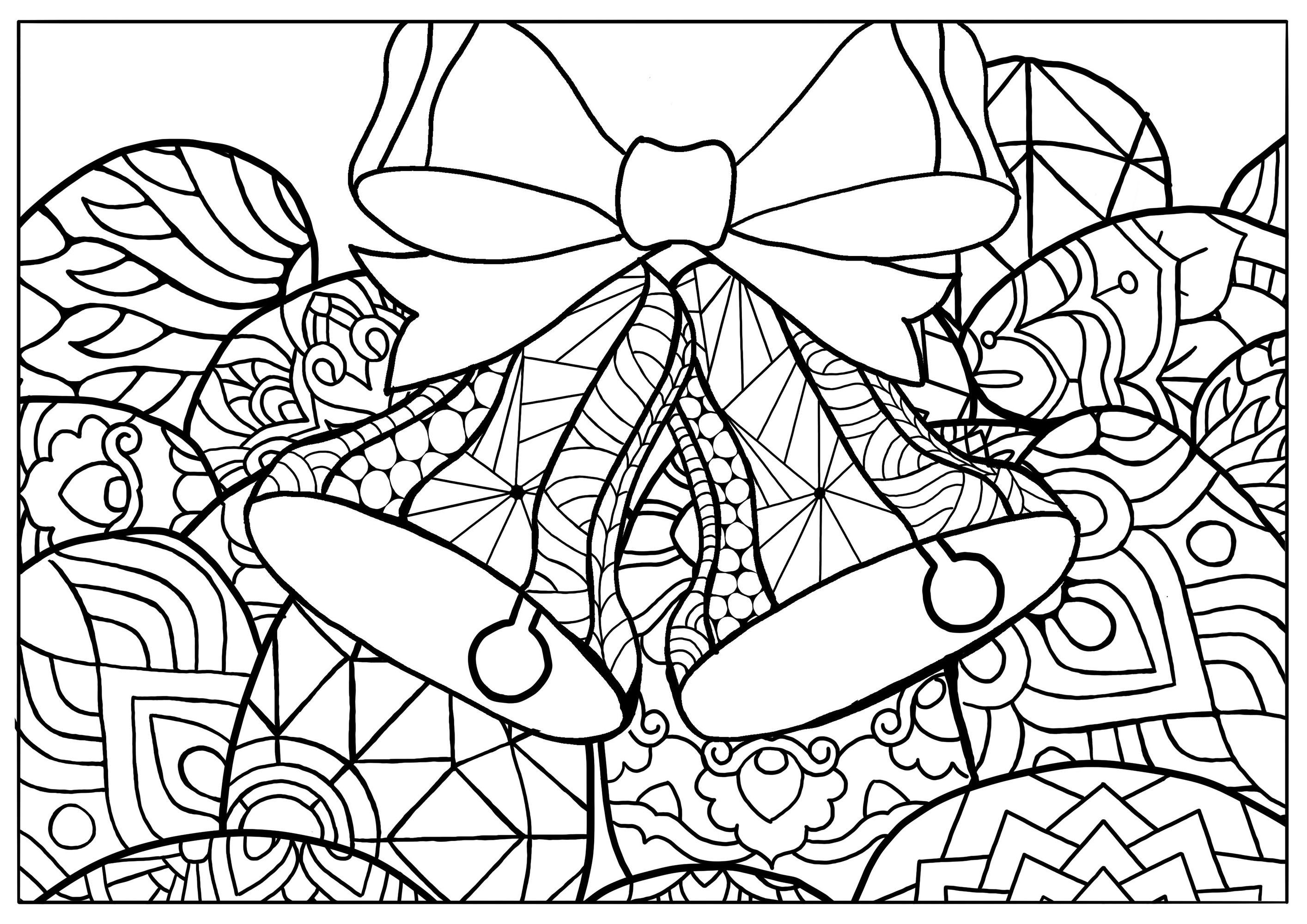Jolies cloches de Pâques à colorier
