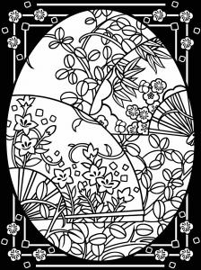 Coloriage oeuf paques avec large bordure 4