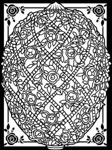 Coloriage oeuf paques avec large bordure 6