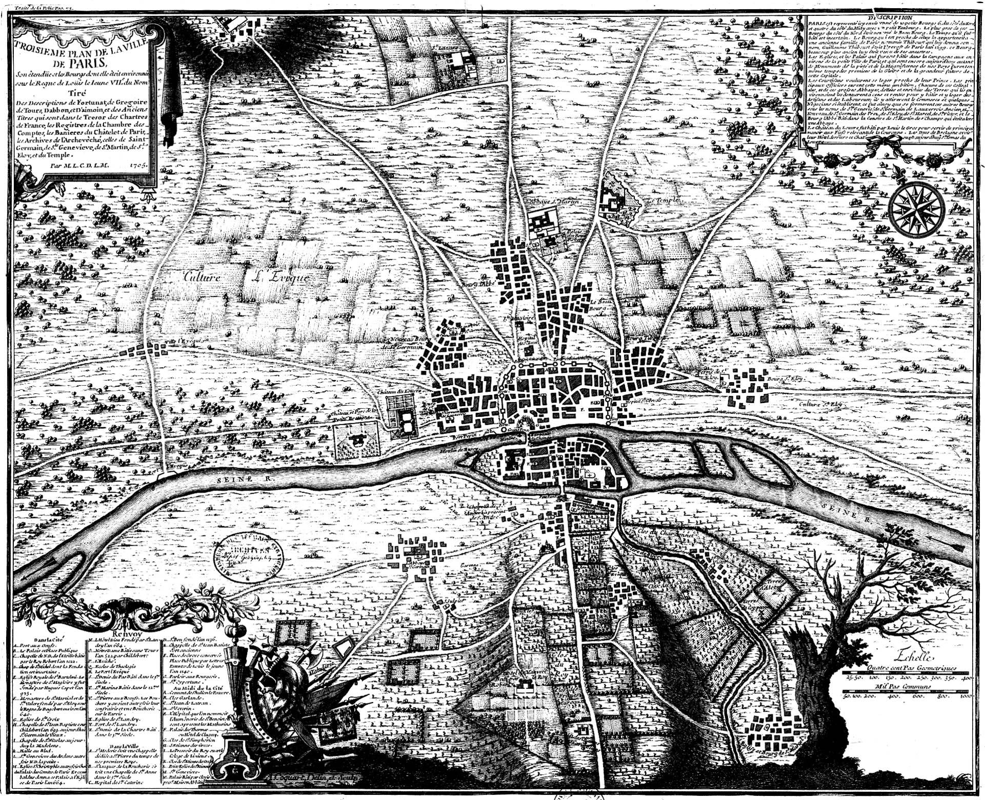 Impressionnant ... Ce plan datant de 1180 est bien un plan de la ville de Paris ! | A partir de la galerie : Paris