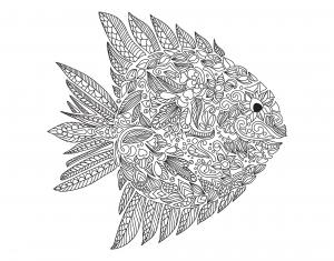 Coloriage poisson artnataliia