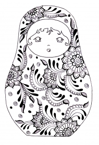 coloriage-pourpee-russe-3 free to print