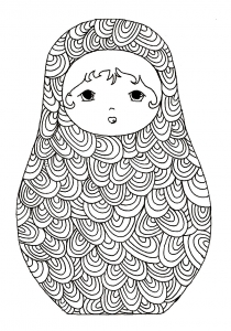 coloriage-pourpee-russe-8 free to print