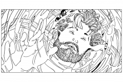 coloriage-adulte-homme-psychedelique free to print