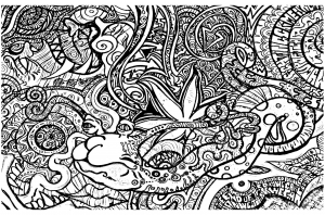 coloriage-psychedelique-3 free to print