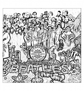 Coloriage the beatles sgt peppers lonely hearts club band