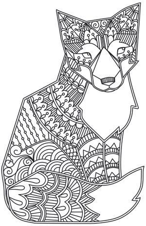 Un malicieux renard avec motifs variés