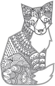 Coloriage adulte animaux renard