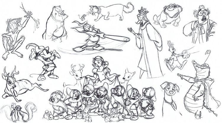 Disney croquis divers personnages 2 | A partir de la galerie : Retour En Enfance