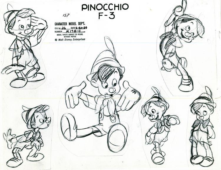 Disney croquis pinocchio | A partir de la galerie : Retour En Enfance