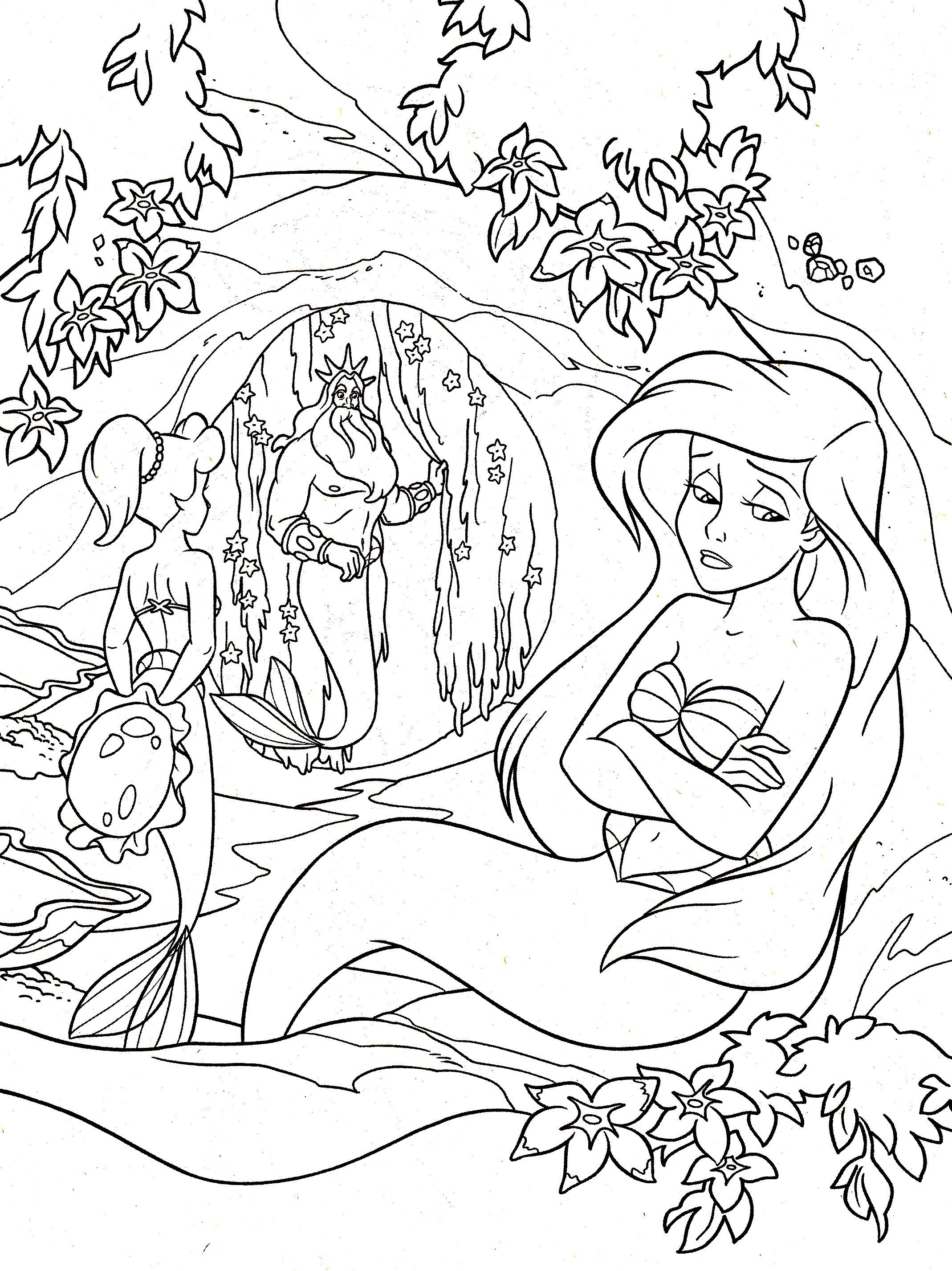 Ariel La Petite Sirene Retour En Enfance Coloriages