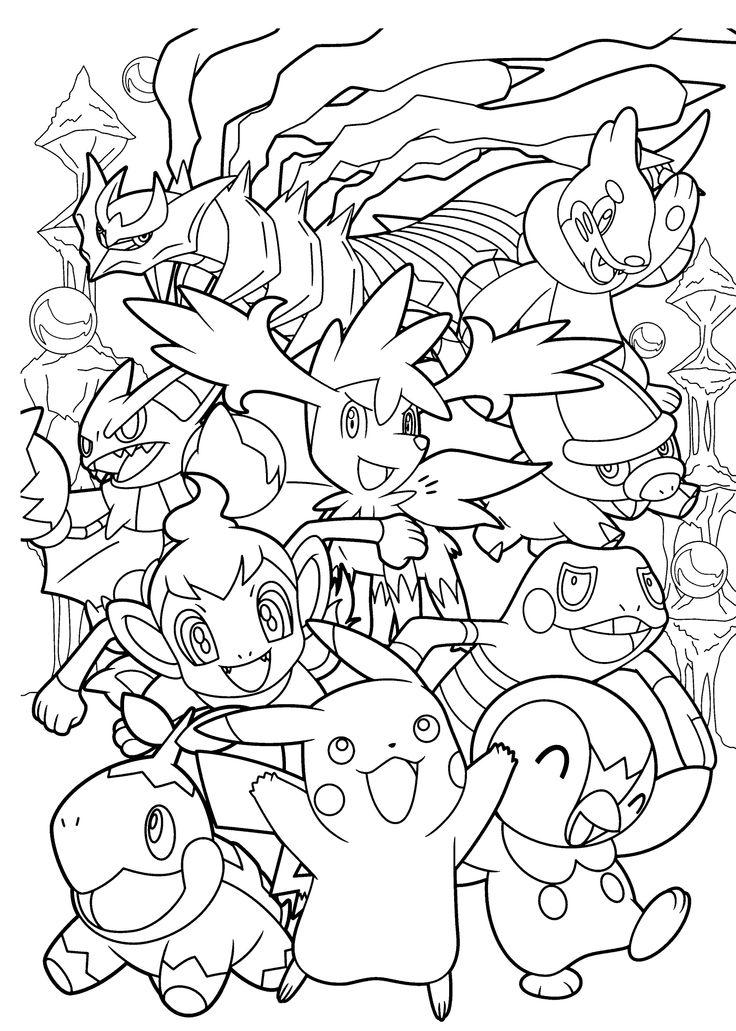 Un coloriage pour les fans de Pokemon GO avec de nombreuses créatures à attraper | A partir de la galerie : Retour En Enfance