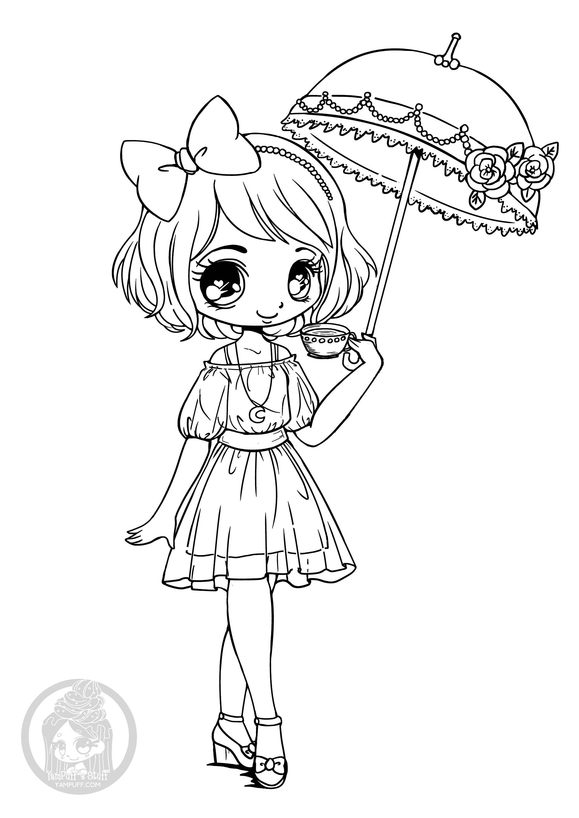 Coloriage Petite Fille Parapluie.La Fille Au Retour En Enfance Coloriages Difficiles Pour