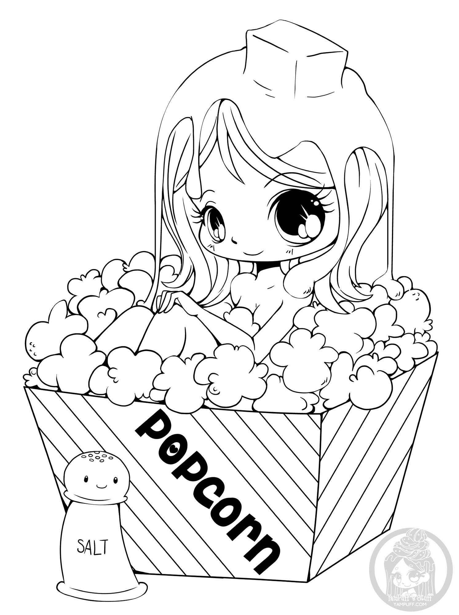 La Fille Au Popcorn Retour En Enfance Coloriages Difficiles