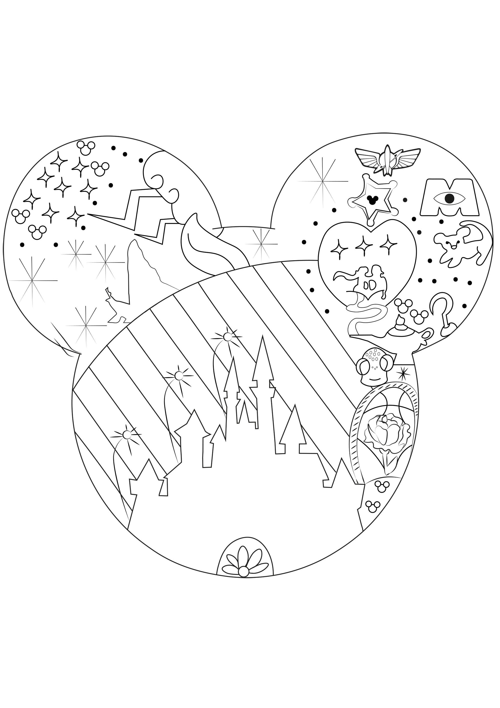 L Univers De Disney Retour En Enfance Coloriages Difficiles Pour Adultes