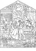 Coloriage adulte prince princesse art nouveau style