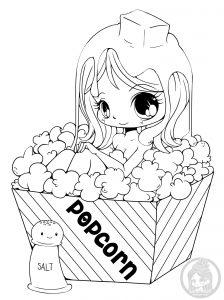 La fille au popcorn