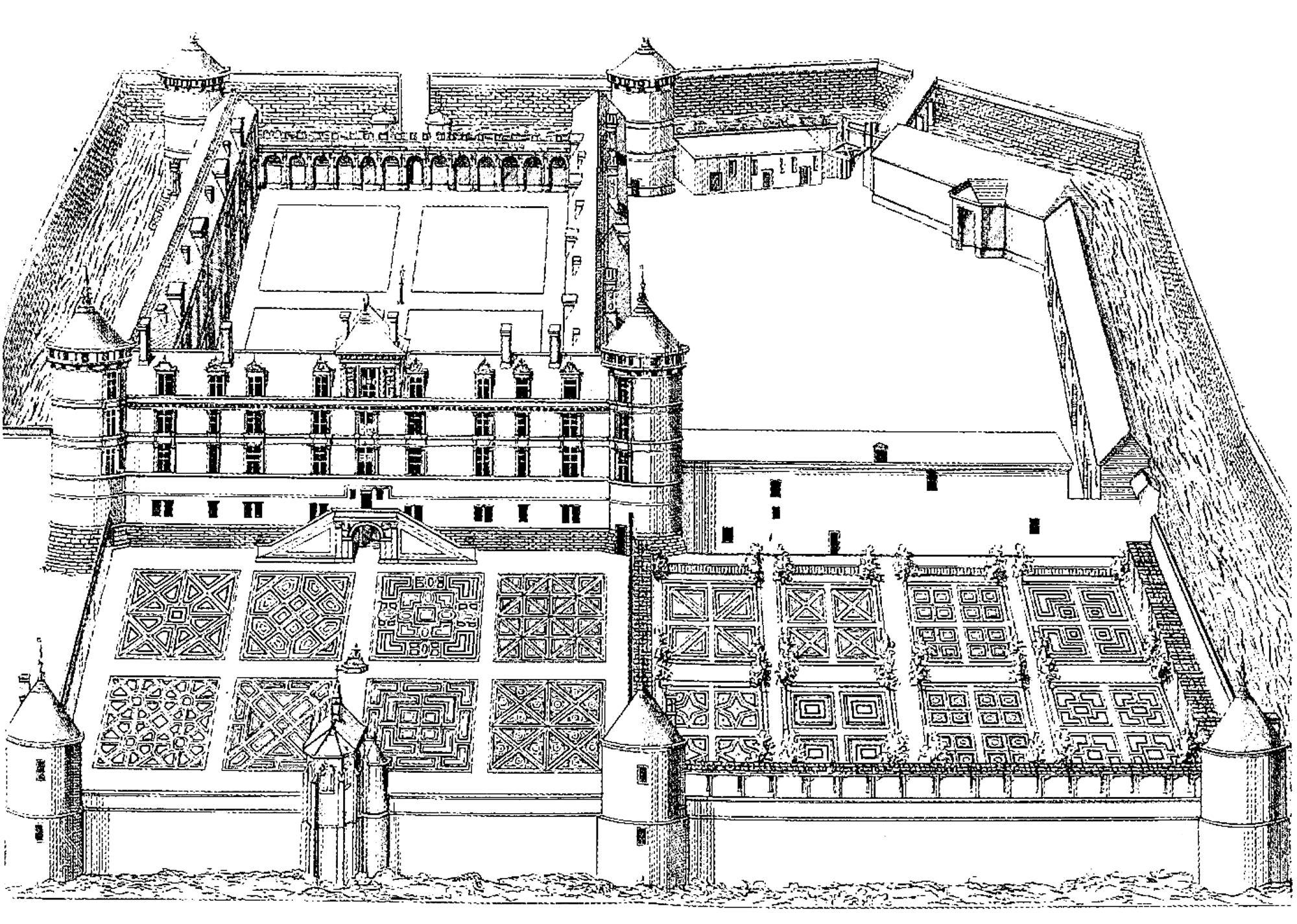 Un château avec un magnifique jardin (Château de Bury)