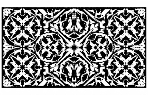 coloriage-adulte-tapisserie-royale free to print