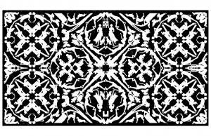 coloriage adulte tapisserie royale