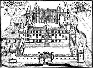 Coloriage chateau du verger gravure