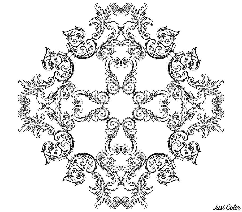 Une illustration toute en rondeur et en finesse, au style très royal
