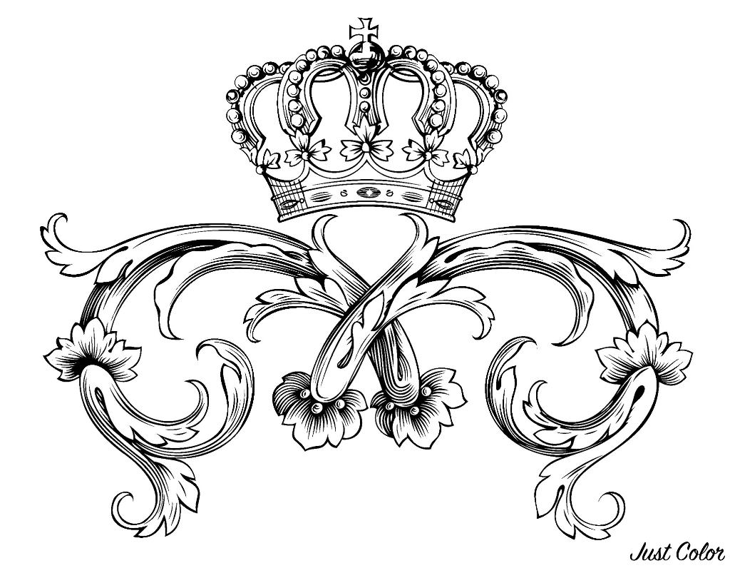 Symbole royal majestueux