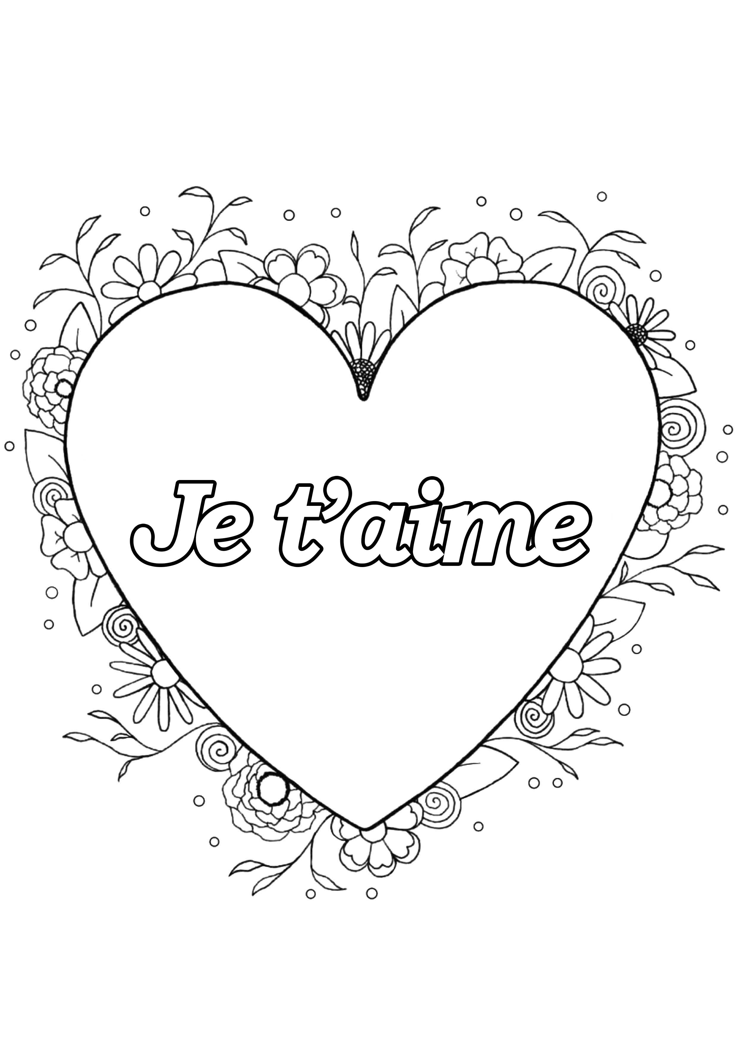 Saint valentin 4 saint valentin coloriages difficiles - Dessin de saint valentin ...