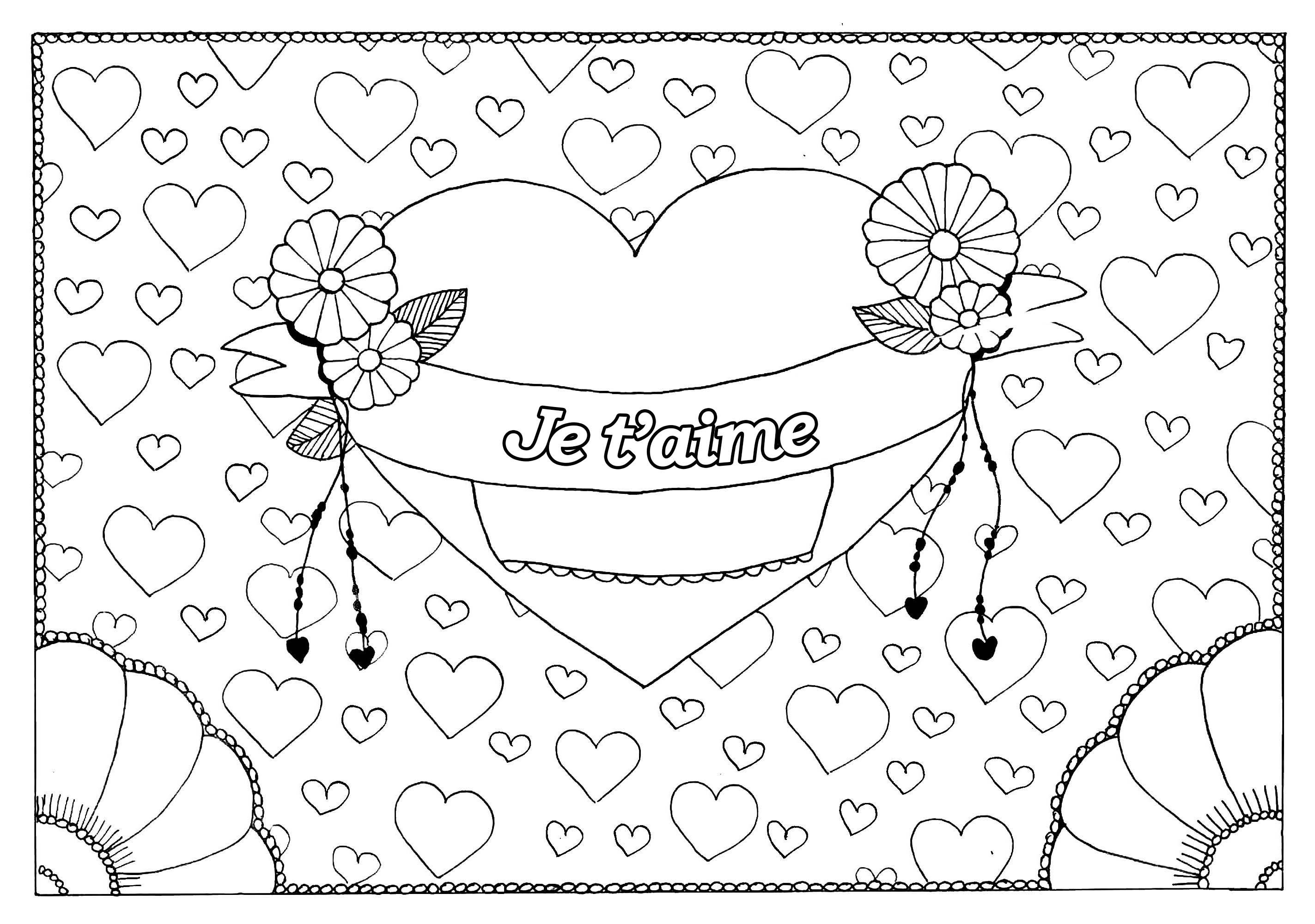 Saint Valentin 5 Saint Valentin Coloriages Difficiles