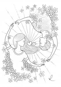 Coloriage saint valentin konstantinos